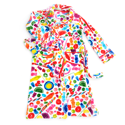 Fuzzy Candy Spill Robe (Youth) - Dylan's Candy Bar