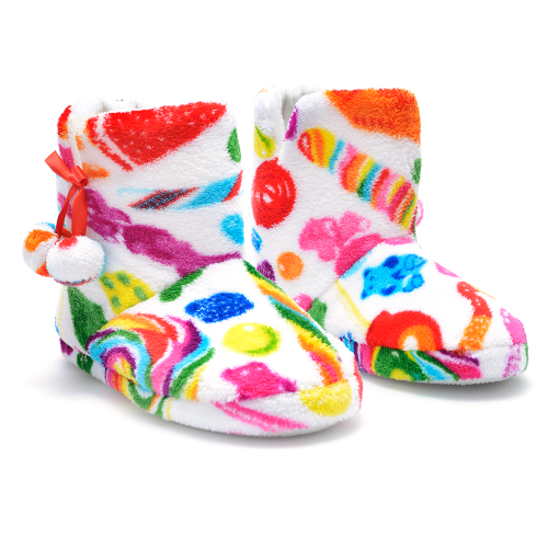 Fuzzy Candy Spill Slippers - Dylan's Candy Bar