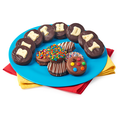 Belgian Chocolate Covered Birthday Oreos - Dylan's Candy Bar