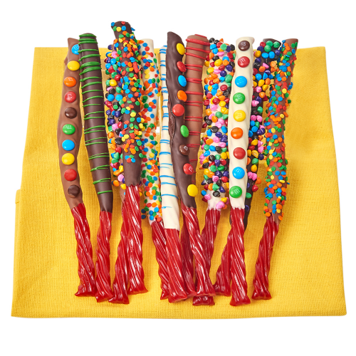 Belgian Chocolate & Candy Covered Twizzlers - Dylan's Candy Bar