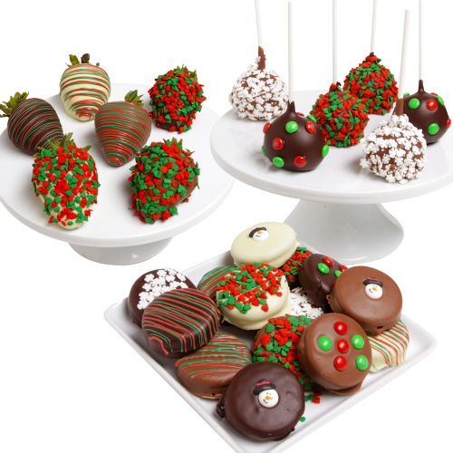 Belgian Chocolate-Covered Holiday Gourmet Trio - Dylan's Candy Bar