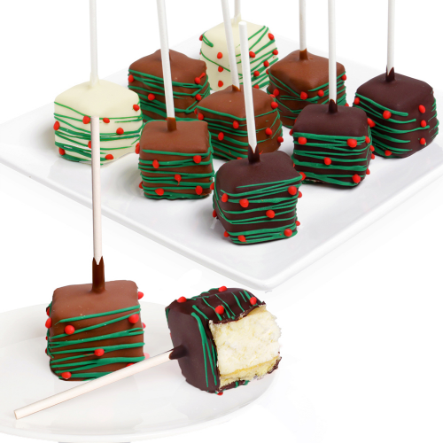 Belgian Chocolate-Covered Christmas Cheesecake Pops - Dylan's Candy Bar
