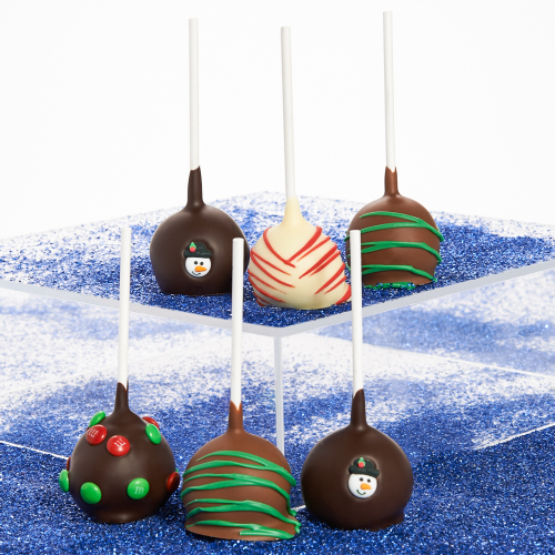 Belgian Chocolate-Covered Christmas Cake Pops - Dylan's Candy Bar