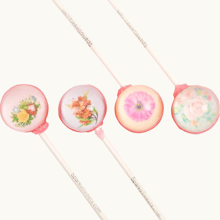 Vintage Flower Pixel Pops - 4 Pack