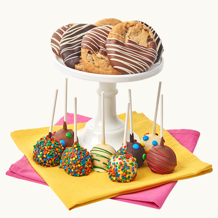 Belgian Chocolate Covered Cake Pops & Gourmet Cookies - Dylan's Candy Bar