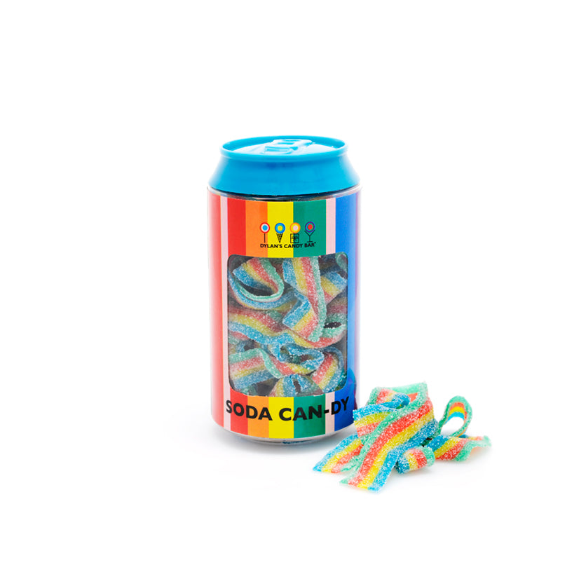 Rainbow Sour Belts Soda Can - Dylan's Candy Bar