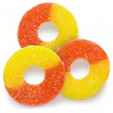 Gummy Peach Rings Bulk Bag