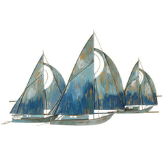 Metal Sailboat Wall Sculpture