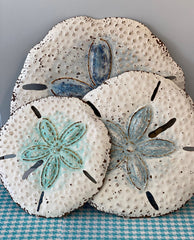 White Metal Sand Dollars