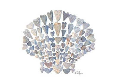Scallop Shell card by Love Rocks Me