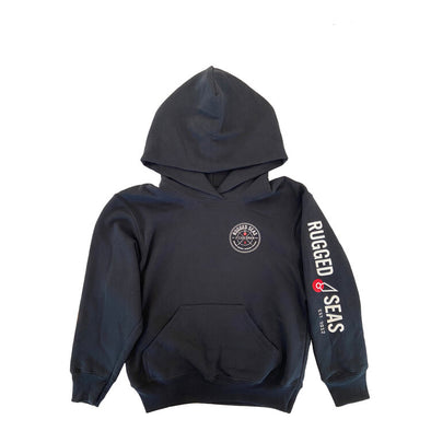 Rugged Seas Youth Hoodie in Black
