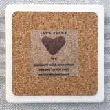 Love Rocks Stone Coasters