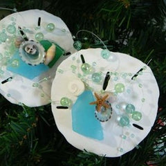 Sand Dollar Christmas Tree Ornaments