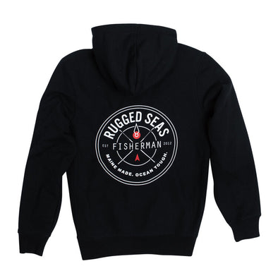 Rugged Seas Black Hoodie