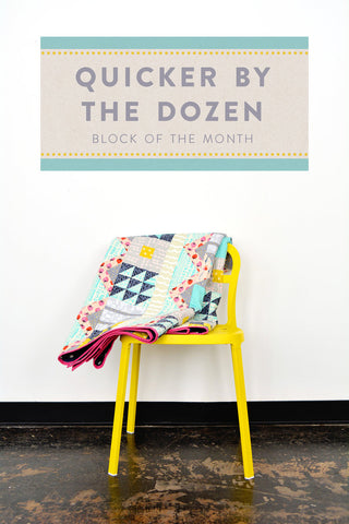 quicker by the dozen cotton + Steel Block of the month