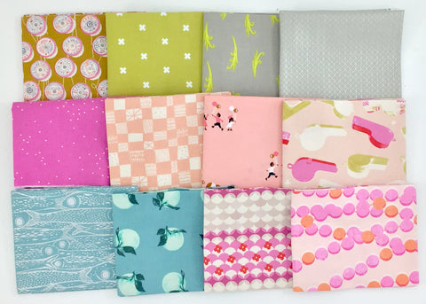 Cotton+Steel Club Pink Castle Fabrics