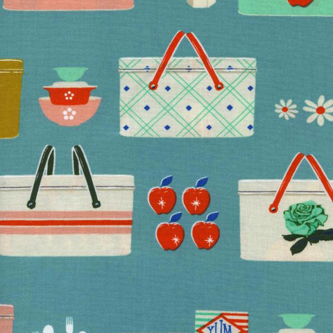 Picnic Baskets in Blue
