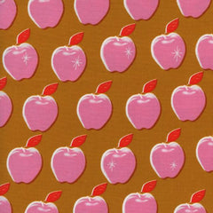 Picnic Apples in Pink from Picnic by Melody Miller for Cotton+Steel