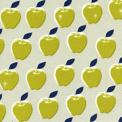 Picnic Apples in Citron from Picnic by Melody Miller for Cotton+Steel