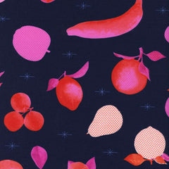 Fruit Dots Fruit Stand in Navy from Fruit Dots by Melody Miller for Cotton+Steel
