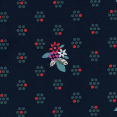 Fruit Dots Fruit Blossoms in Navy from Fruit Dots by Melody Miller for Cotton+Steel