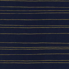 Fruit Dots Metallic Gold Stripe on Navy from Fruit Dots by Melody Miller for Cotton+Steel