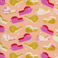 Trinket Whistles in Pink from Trinket by Melody Miller for Cotton+Steel