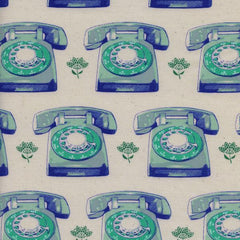 Trinket Telephones in Aqua from Trinket by Melody Miller for Cotton+Steel