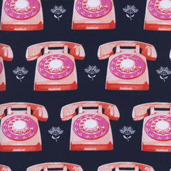 Trinket Telephones in Navy from Trinket by Melody Miller for Cotton+Steel