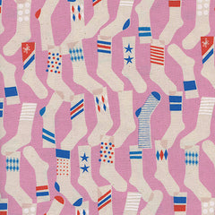 Kicks Socks in Pink from Kicks by Melody Miller for Cotton+Steel