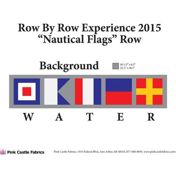 Row by Row 2015 - PDF Pattern