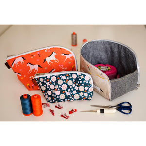 Open-Out Box Pouch by Aneela Hoey - Printed Bag Pattern