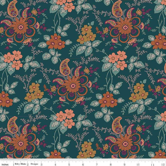 04775651Z The Hesketh House Collection Fireside in Dark Green from Liberty of London at Pink Castle Fabrics