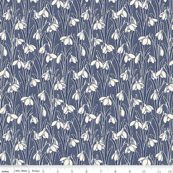 04775656W The Hesketh House Collection Hesketh in Dark Blue from Liberty of London at Pink Castle Fabrics
