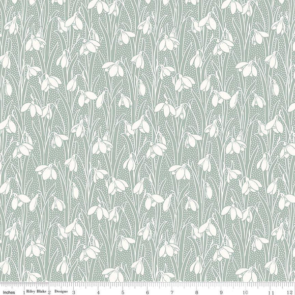 04775656X The Hesketh House Collection Hesketh in Pale Green from Liberty of London at Pink Castle Fabrics