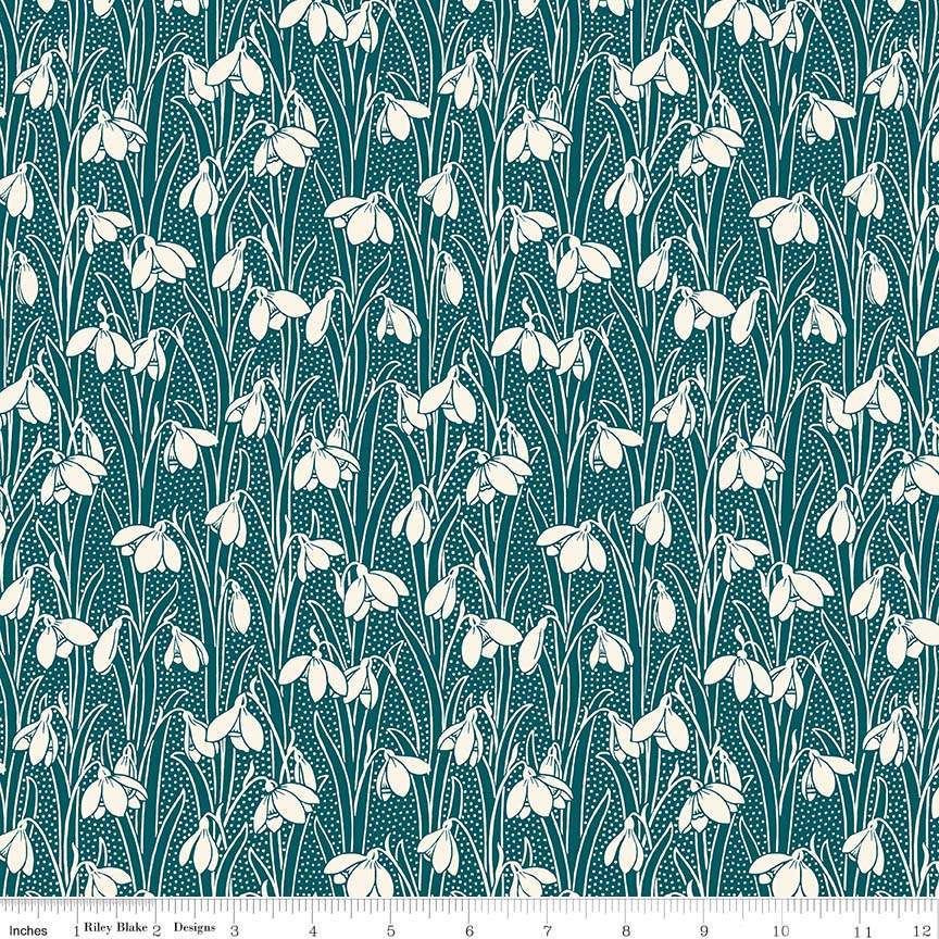 100/% cotton Fabric Pipers Peacock 04775653Z Dark Green Liberty Hesketh House