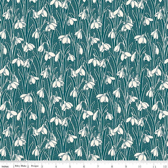 04775656Z The Hesketh House Collection Hesketh in Dark Green from Liberty of London at Pink Castle Fabrics