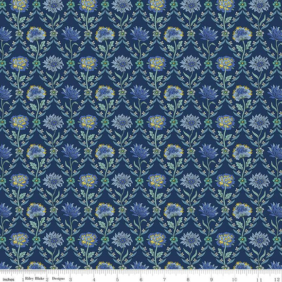 04775670V The Summer House Collection Kew Trellis in Navy by Liberty of London for Riley Blake Designs at Pink Castle Fabrics