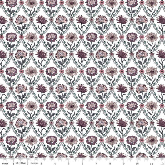 04775670Z The Summer House Collection Kew Trellis in Rose by Liberty of London for Riley Blake Designs at Pink Castle Fabrics