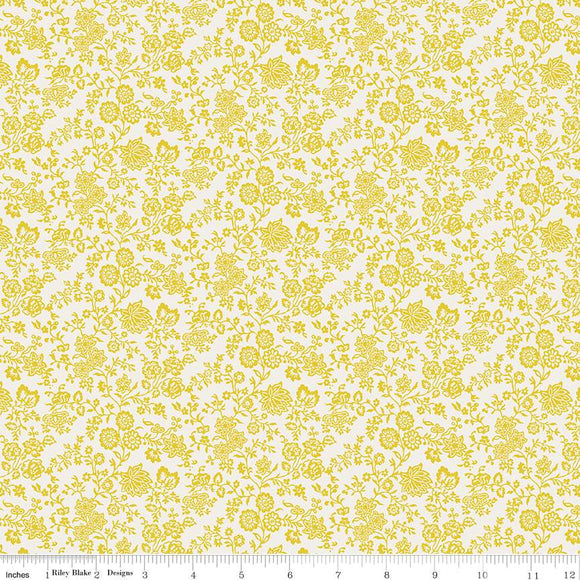 04775672X The Summer House Collection Hampton Vines in Yellow by Liberty of London for Riley Blake Designs at Pink Castle Fabrics