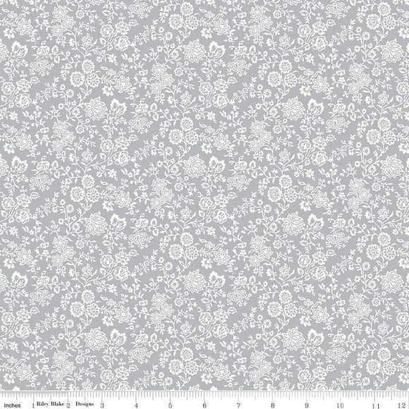 04775672Z The Summer House Collection Hampton Vines in Gray by Liberty of London for Riley Blake Designs at Pink Castle Fabrics