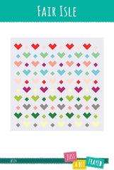 Fair Isle - Printed Quilt Pattern from Color Inspirations Club by Just A Bit Frayed