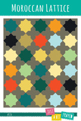 Moroccan Lattice - Printed Quilt Pattern from Color Inspirations Club by Just A Bit Frayed