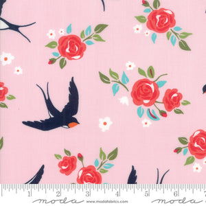 11821 12 Rosa Carry My Soul in Pink by Crystal Manning for Moda from Pink Castle Fabrics