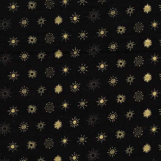 Me+You 12 Stars Metallic in Gold on Black