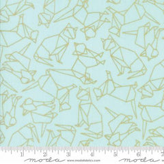 Meow or Never Cats Cradle in Metallic Aqua from Meow or Never by Erin Michaels for Moda