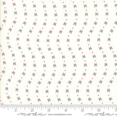 Manderly Curved Stripe in Cream and Gray from Manderly by Franny & Jane for Moda