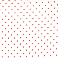 Essential Dots in White and Red from Daysail by Moda House Designers  for Moda