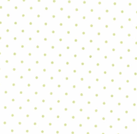 Essential Dots in White and Spring Green