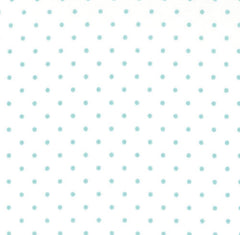 Essential Dots in White and Teal from Intermix Basics by Moda House Designers  for Moda